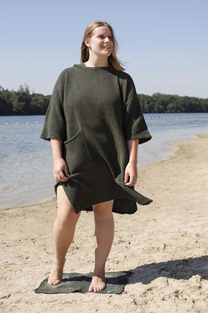 zeemeermantel® army green omkleed poncho