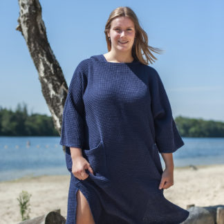 zeemeermantel® navy blue omkleed poncho
